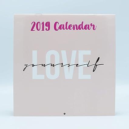 Calendario De Pared Frases En Inglés 2019 Marca Edicards Con Fotografías Y Frases Que Motivan Impreso En Papel Fotográfico De Alta Calidad 21x21