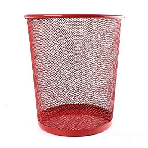Pink Lizard New Colourful Metal Mesh Waste Bin Rubbish Paper Net Basket Home Office Durable