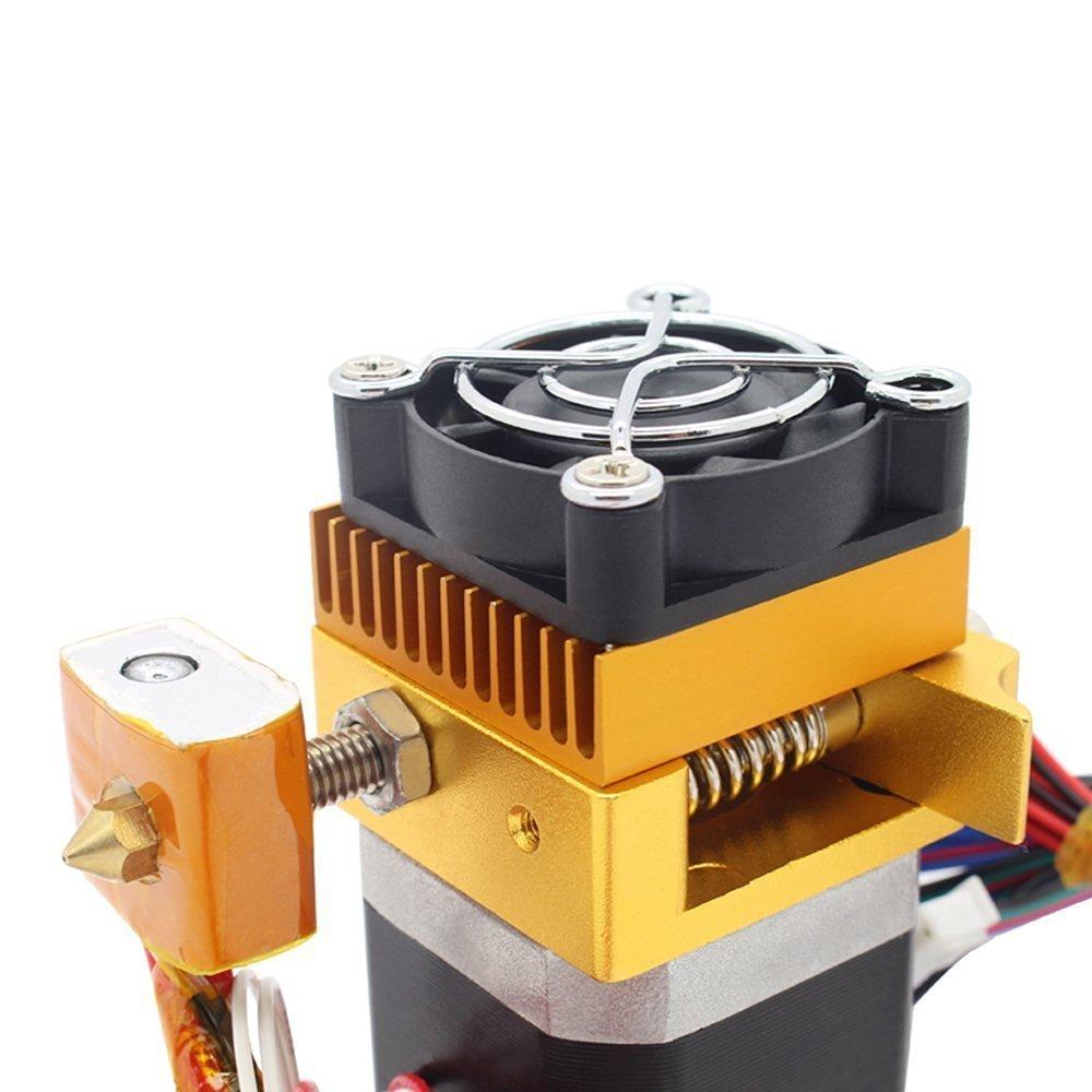 Redrex Assemblato MK8 Estrusore 0,2//0,3//0,4//0,5 millimetri Hotend Stampa ugello per MakerBot Prusa i3 Reprap Stampante 3D Filamento 1,75 millimetri Supportata