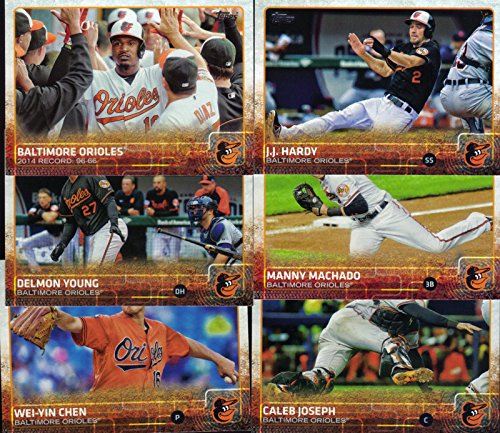 (Baltimore Orioles 2015 Topps MLB Baseball Regular Issue Complete 23 Card Team Set with Manny Machado, Chris Davis Plus)
