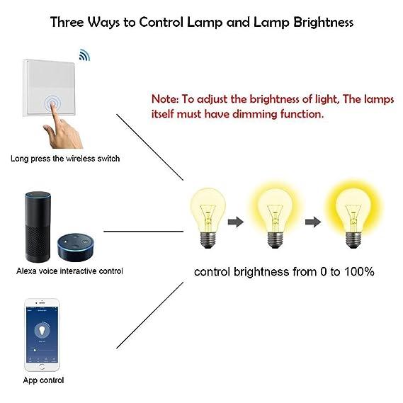 KOBWA Wireless Light Switch Kit, No Battery No Wiring Required, Self ...