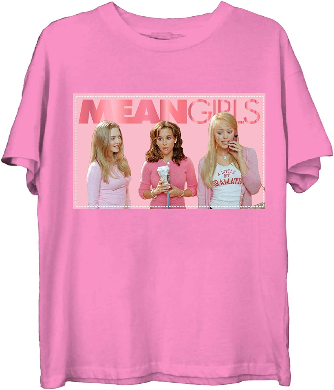 Ladies Mean Girls Fashion Tee Mean Girls Satin Patch Tee Pink, Small Regina George Gretchen Wieners and Karen Smith