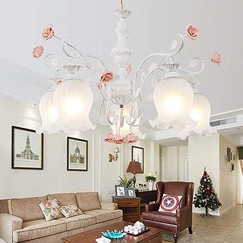 WRMING/® Deckenleuchte Klassisch Florentiner Pink Rose Klassischer Kronleuchter,Green