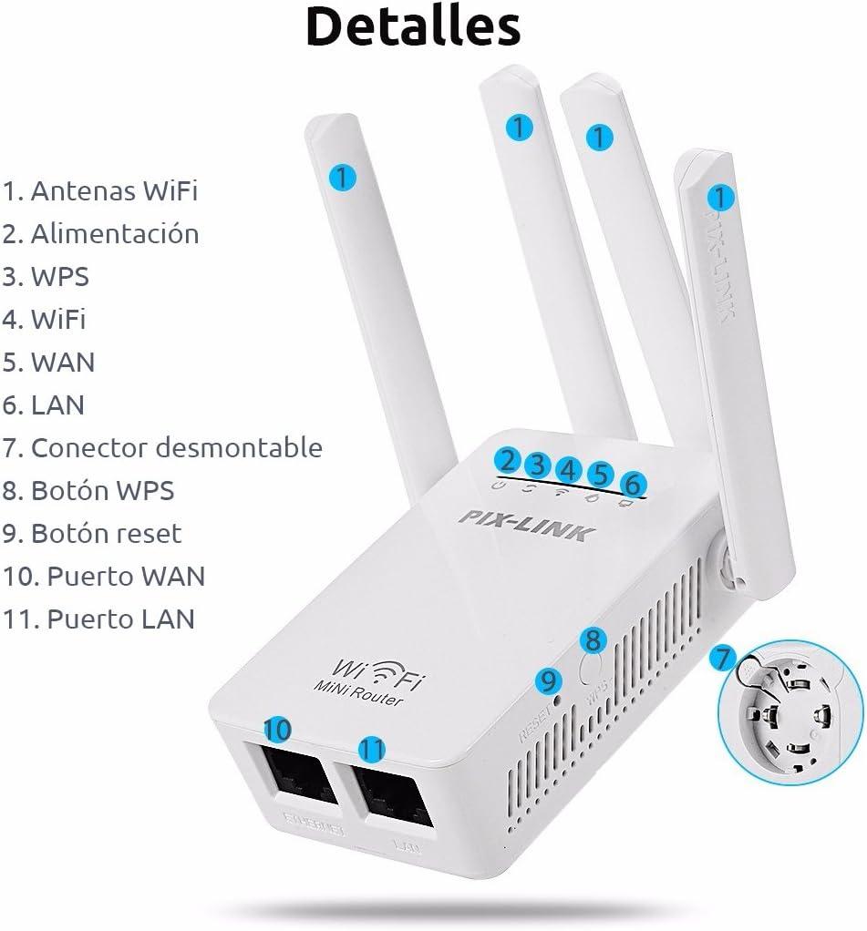 Repetidor WiFi Alta Potencia para amplificar señal inalámbrica en hogares, oficinas. (WR09)
