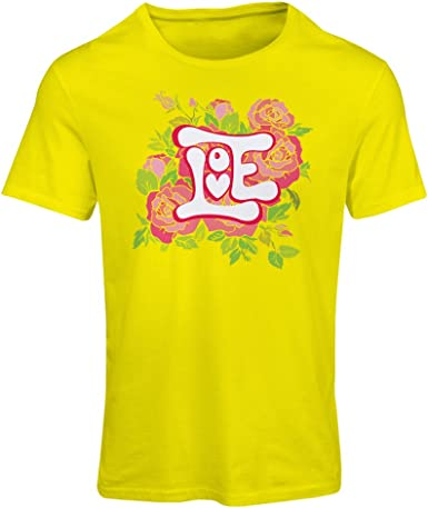 lepni.me Camiseta Mujer ¡Amor y Rosas! Camisa romántica del ...