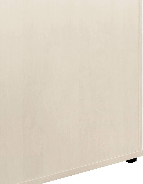 WeberB/ÜRO Armadio per archiviazione Profi con Serratura 5OH Armadio Bianco in Acero Bianco Armadio per Ufficio Armadio ad Ante scorrevoli