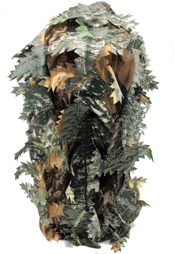 LQNB Cagoule de de Visage 3D Feuillu de Chasse de Camouflage Chapeau Camo de Coiffures de P/êche de Chasse Ext/érieur