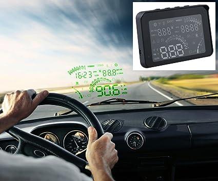 Proyector cuadro de mando coche HUD parabrisas: Amazon.es: Coche y ...