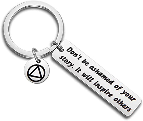 AA alcoholics anonymous birthday gift Recovery anniversary gift Personalized sobriety keychain New beginnings gift. Sober anniversary