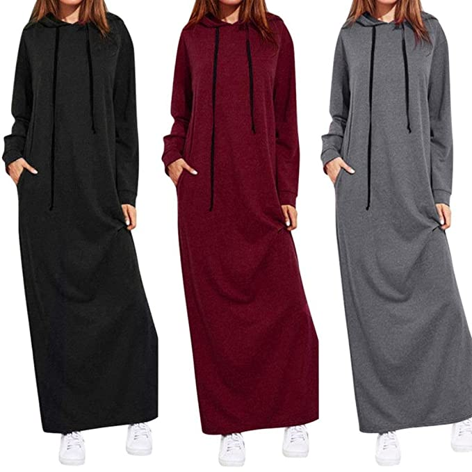 dcacab1d8318f Leewos Clearance! Solid Long Sleeve Dress