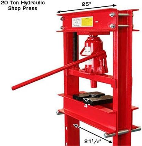 USA 20 Ton Floor Type Hydraulic Shop Press H Frame