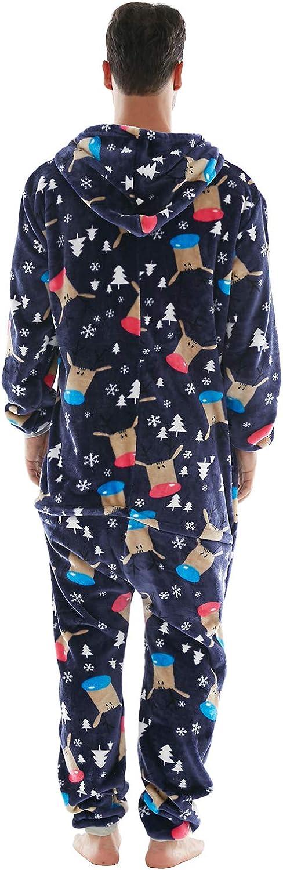 Pijama en Tejido Franela Polar Suave y c/ómodo para Toda la Familia excelente para Invierno Pijama Hombre Mujer