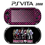 Decorative Video Game Skin Decal Cover Sticker for Sony PlayStation PS Vita Slim (PCH-2000) - Monster High Ghoul Hot Pink Skull