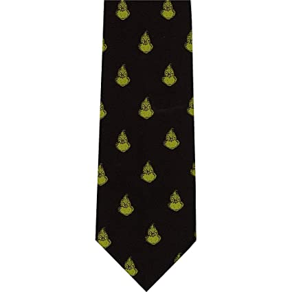 Corbata de poliéster reversible Dr Seuss The Grinch Checkerboard ...