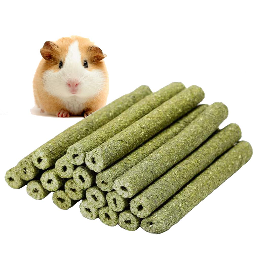 MAIYUAN Pet Snacks Chew Toys Natural Timothy Grass Powder Molar Rod Chew Sticks Toy for Rabbits Chinchilla Guinea Pigs Hamster