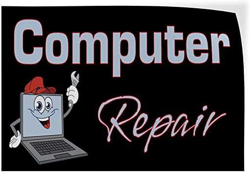 64inx42in Set of 2 Decal Sticker Multiple Sizes Computer Repair #1 Style D Business Repair a Computer Outdoor Store Sign Black