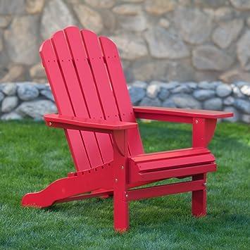 Amazon.com : Belham Living Shoreline Adirondack Chair   Red : Garden U0026  Outdoor