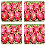 Liili Square Coasters IMAGE ID 14416745 Dragon fruit in Thailand market ready for sale
