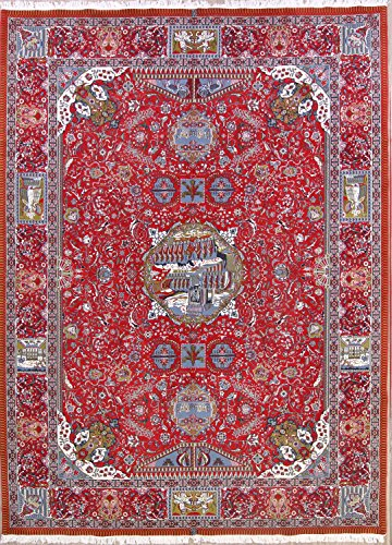 Rug Source Soft Plush Pictorial Traditional 10x13 Kashmar Persian Area Rug for Bedroom (13' 2'' X 9' (8'2 Kashmar Persian Rugs Carpets)