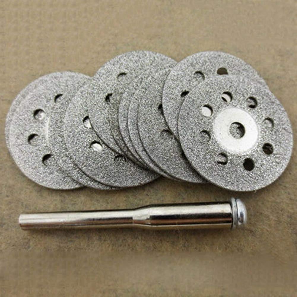 Juego de 12 hojas de sierra circulares giratorias para cortar discos de madera y metal herramientas el/éctricas Danigrefinb