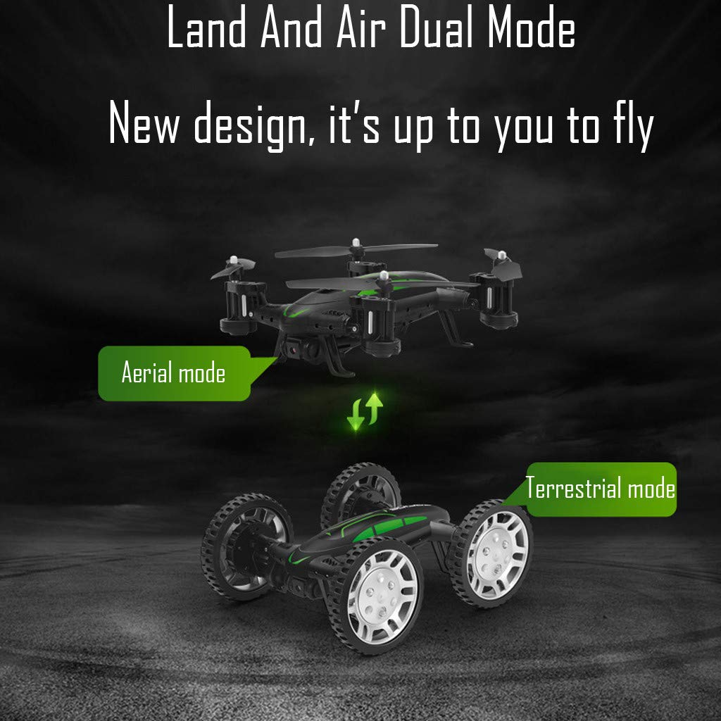 COLOR-LILIJ FY602 Land Air Dual Mode - WiFi FPV RC Control Airplane - 17.5 X 13.8 X 7cm, Drone Car - 15 X 13 X 6cm, with Altitude Hold Headless Mode, 2.4G - 4CH - WiFi Enabled FPV Camera by COLOR-LILIJ (Image #3)