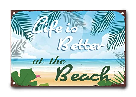 happygoluck1y Life is Better at The Beach - Cartel de Metal ...