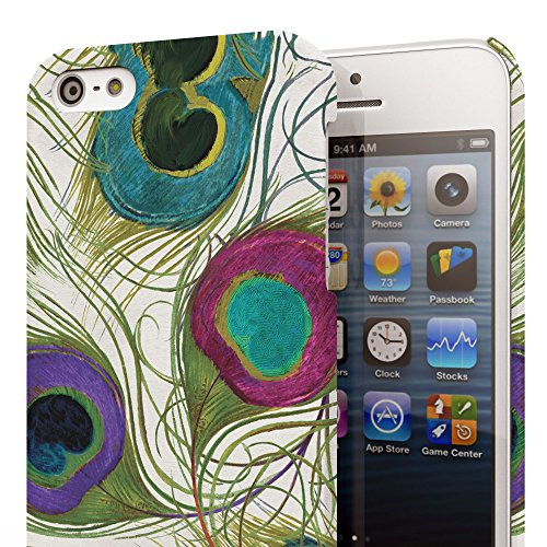 Koveru Back Cover Case for Apple iPhone 5S - Peacock Feather