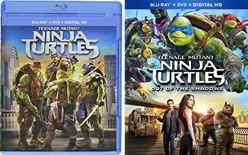Teenage Mutant Ninja Turtles: Out Of The Shadows + Teenage Mutant Ninja Turtles (2014) Double Feature Blu Ray DVD 2 Movie Set