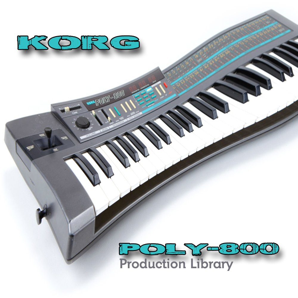 KORG POLY-800 - THE very Best of - Large Sound Library - Original Samples in WAVEs format on DVD or for download