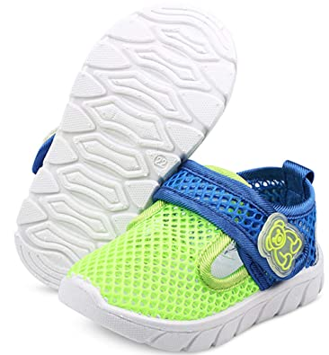 353d328525a0 DADAWEN Baby s Boy s Girl s Water Shoes Lightweight Breathable Mesh Running  Sneakers Sandals Green US Size 10