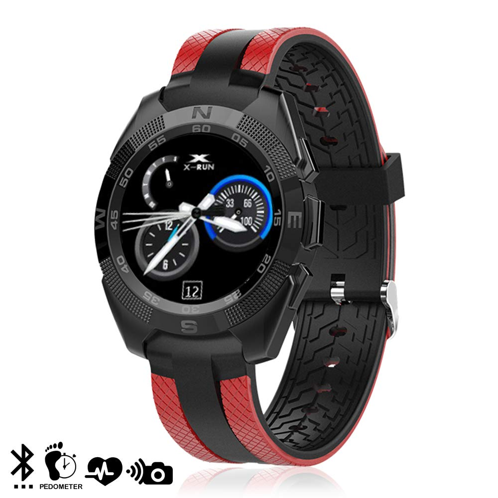 DAM L3 - Smartwatch con Bluetooth 4.0, Color Rojo
