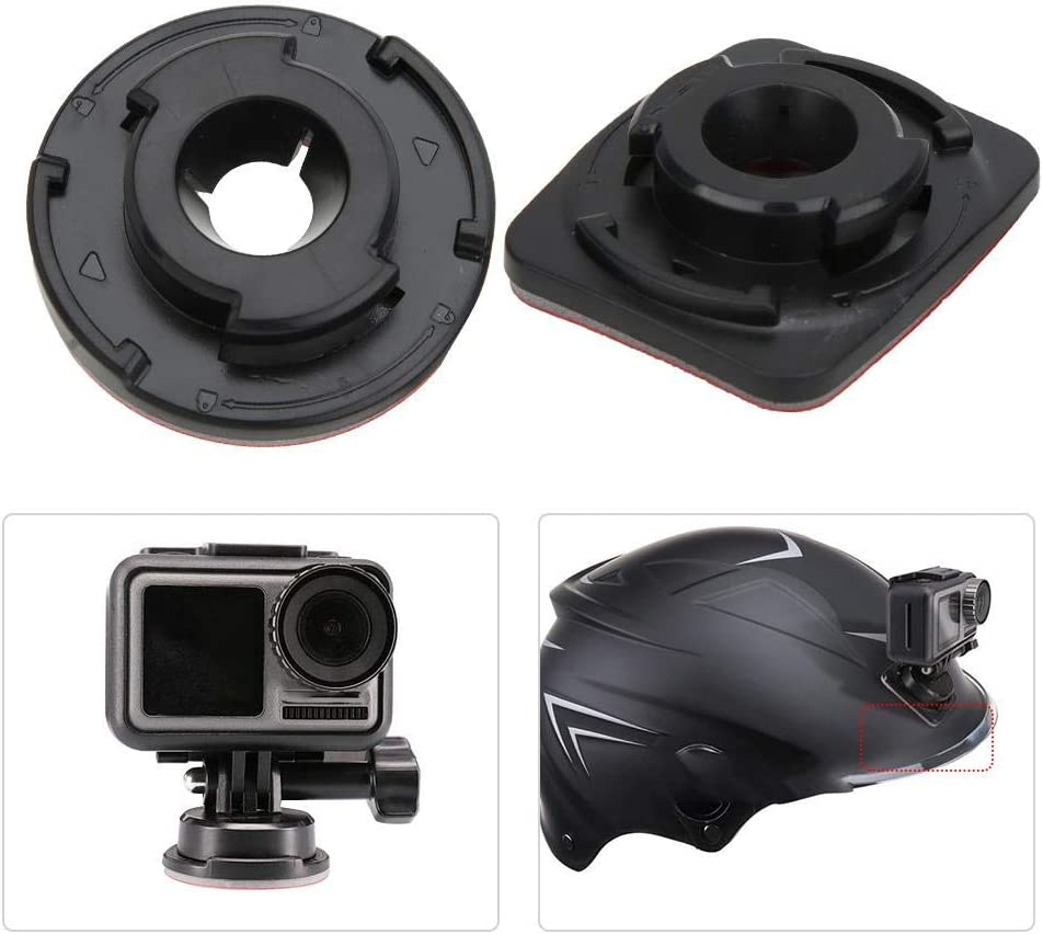 Tripod//Helmet Fixing Mount for DJI OSMO ACTION Mugast Quick Release Sticky Base for Gopro Sport Camera