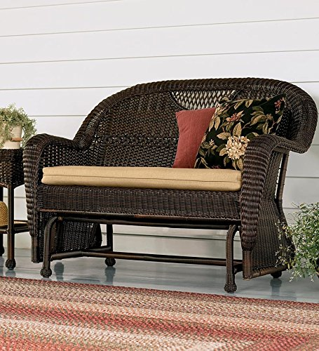 Cushion-for-Prospect-Hill-Outdoor-Resin-Wicker-Furniture-Love-Seat-Glider-in-Beige
