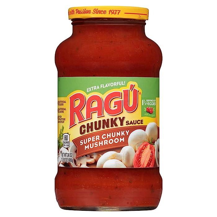Ragu Pasta Sauce, Super Chunky Mushroom, 24 oz