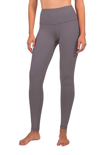 3594258119f10 90 Degree by Reflex High Waist Ultra Compression Leggings for Women - Grey  Mauve - Small