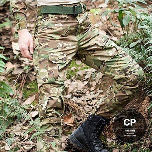 H Welt EU Pantalon militaire pour homme, pantalon avec genouillères pour jeux de stratégie, airsoft, paintball, tir… 3