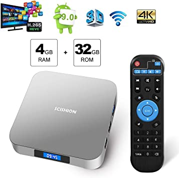 Sidiwen Android 9.0 TV Box AI Two 4GB DDR3 32GB eMMC RK3328 Quad Core Smart Media Player Bluetooth 4.0 WiFi Ethernet USB 3.0 Soporte 3D 4K H.265 Set Top Box: Amazon.es: Electrónica