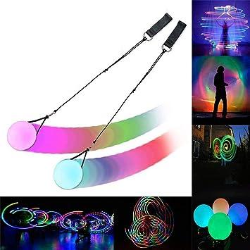 XMY LED Balls- 2020 actualizado Spinning POI Juguete para niños ...
