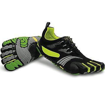 sneakers for cheap 7a94d de44c Vibram FiveFingers Mens Komodo KMD Sport LS (Black   Green   Yellow) M