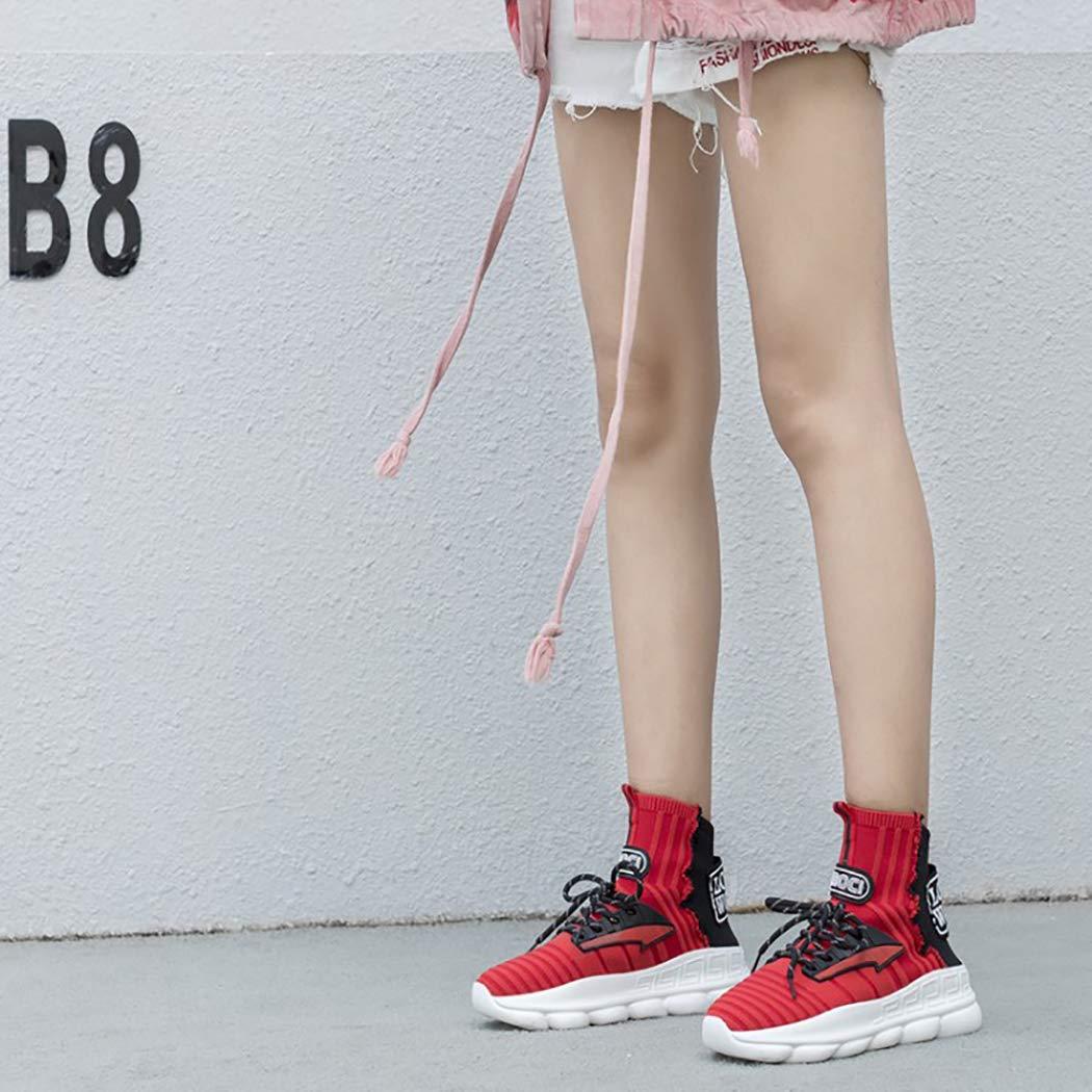 LYMYY Damen Schwamm Casual schuhe Damen Strick Elastische Laufschuhe Atmungsaktive Laufschuhe Elastische Low-Help-Fashion-Turnschuhe Für Schulmädchen Mit Gummisohle Große Schuhe a8e880