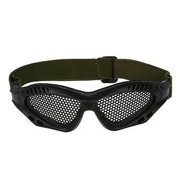 SODIAL(R) Gafas Tacticas Rejilla Proteccion Ojos Militar Seguridad Supervivencia Negro: Amazon.es: Deportes y aire libre