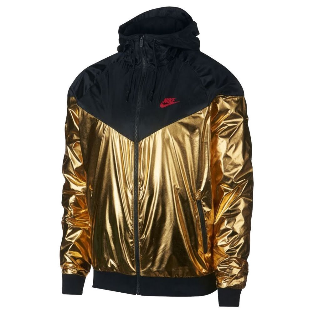 NIKE Sportswear Windrunner Jacket - Gold/Black - S by NIKE