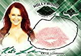 Katie Lohmann 2015 Benchwarmers Hollywood Green Kiss Card Autograph Sexy 2/3