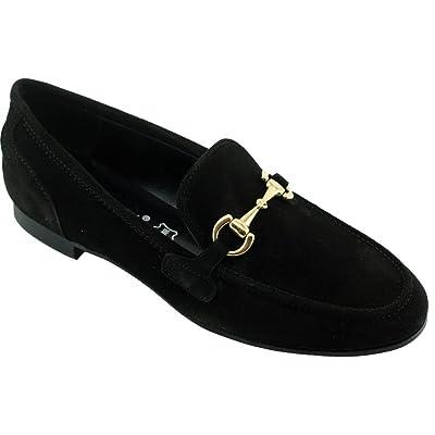Angelina® Hinda Mocassins Noir à Mors Casual Slippers - Petites et Grandes Pointures