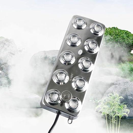umidificatore per nebulizzatore con nebulizzatore con trasformatore per piante da giardino InLoveArts Nebulizzatore ad ultrasuoni per nebulizzatore 6 Fori
