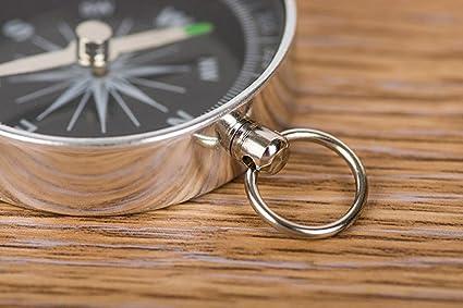 Gaddrt Randonn/ée l/ég/ère en aluminium sauvage de survie professionnel outil de navigation boussole compas