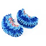 G2PLUS New Arrival Unisex Multifunctional Washable Chenille Fibre House Floor Cleaning Dust Mop Slippers Foot Socks Mop Shoes (Blue)