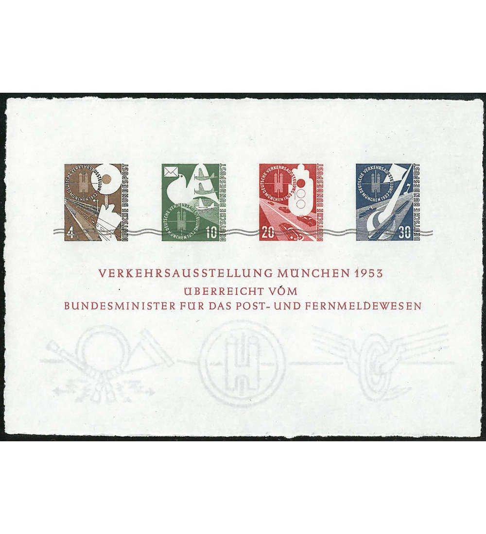 Goldhahn BRD Bund Verkehrsausstellungsblock Nr. S 167-170 mit Klappfolder Briefmarken für Sammler