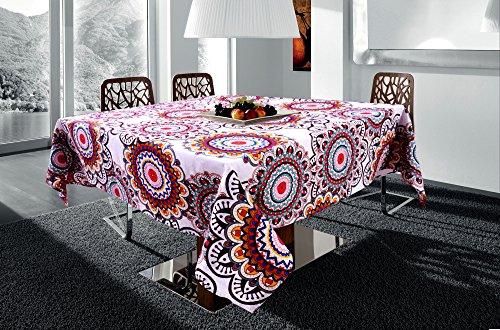 Miyanbazaz Textiles Cotton Floral Print Design Square 4 Seater Table Cover; 60 X 60  Multicolour