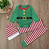 Baby Christmas Costumes! Odeer Toddler Baby Girl Boy Clothes Set Romper+Pants+Hat 3PCS
